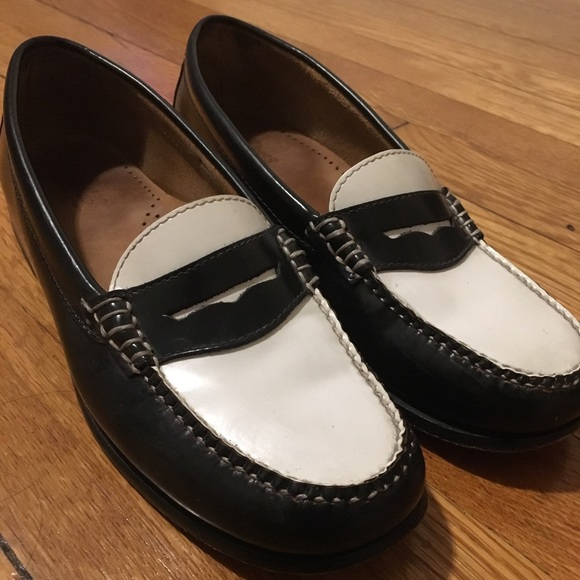 7ee8260cc52f6 G.H. Bass & Co. Shoes   Gh Bass Co Black And White Leather Loafers ...